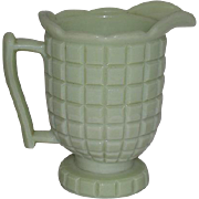 Jadeite, Late Block Cream Pitcher