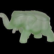 Tiara, Satin Green, Covered Elephant Candy Dish