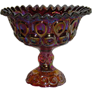 Fenton, Amberina, Moon and Stars Carnival Glass Compote