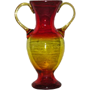 Blenko, Amberina, Double Handled Vase