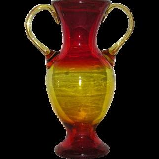 Blenko, Amberina, Double Handled Vase