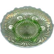 Jefferson Glass Co., Green Opalescent, Tokyo ICS Whimsy Bowl