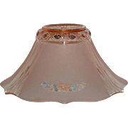 Pink Depression Glass, Satin Finished Lamp Shade