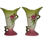 Pair, Hull Art Pottery, Woodland Vases
