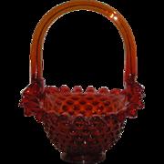 """Mosser, Red/Orange, Hobnail 7"""" Basket"""