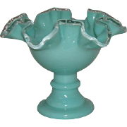 Fenton, Silver Turquoise, Candle Holder