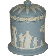 Light Blue, Wedgwood, Cigarette Jar