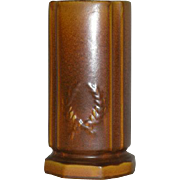Brown, Wheatley Pottery, Cylinder Vase