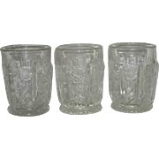 Three, Higbee, Panelled Thistle Tumblers