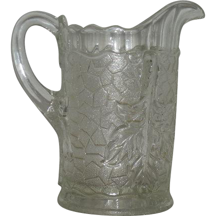 Dugan, Clear, Maple Leaf Water Pitcher