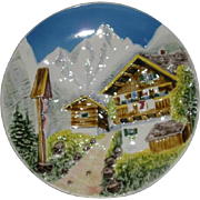West Germany, Alpine Scene Decorator Plate
