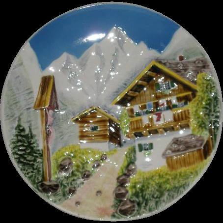 West Germany, Alpine Scene Decorator Plate