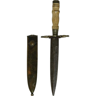WWII Brass Sheathed, Military, Officers Dagger