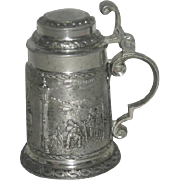 Miniature, Pewter, Zinn, German Stein