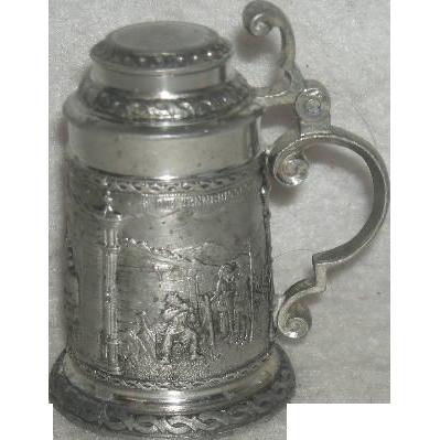 Miniature, Pewter, Zinn, German Stein