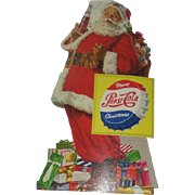 NOS, Pepsi, Santa, Cardboard Counter Top Store Display