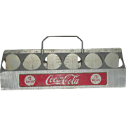 1950, Aluminum, Coca Cola 12 Pack Drink Carrier