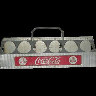1950, Aluminum, Coca Cola 12 Pack Drink Carrier