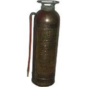 Pyrene, Copper & Brass, Soda-Acid, 2 1/2 Gal. Fire Extinguisher