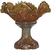 Imperial, Marigold, Carnival Glass, Twins, Fruit Bowl W.Base