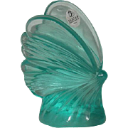Fenton, Large, Light Blue Butterfly Paperweight