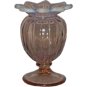Westmoreland, Pink Opalescent, Lotus, Spittoon Vase