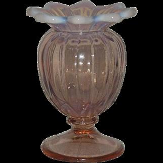 Westmoreland, Pink Opalescent, Lotus, Spittoon Vase