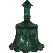 Fenton, Teal Green, Sable Arch Carnival Glass Bell