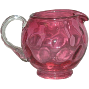 Small, Fenton, Cranberry, Dot, Creamer/Pitcher