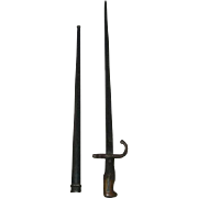 1876, French, Military Bayonet W/Scabbard