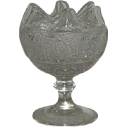Indiana Glass Co., Sandwich Pattern, Stemmed Rose Bowl