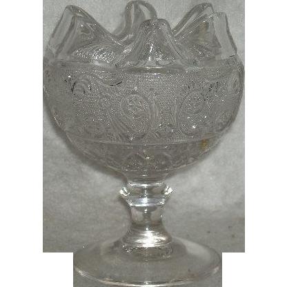 Indiana Glass Co., Sandwich Pattern, Stemmed Rose Bowl