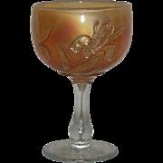 Fenton, Marigold, Iris, Carnival Glass Goblet