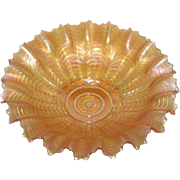 "Northwood, Marigold, 8 3/4"", PCE, Nippon Carnival Glass Bowl"