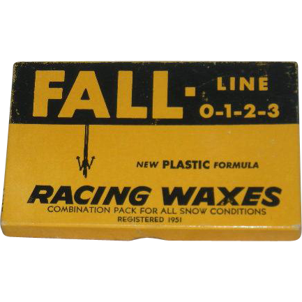 1964, NOS, Fall Line-0-1-2-3, Racing Waxes for Skis