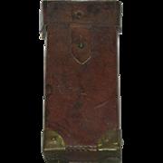 Leather & Brass, WWI/WWII Belt Mount Cartridge Box