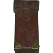 Leather & Brass, WWI/WWII Belt Mount Cartridge Box