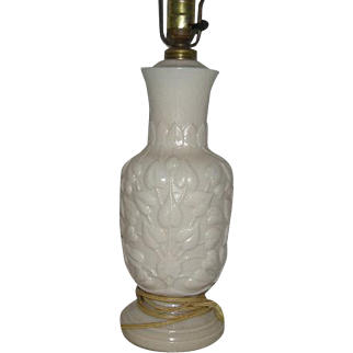 Aladdin, Alachite, Ivy Pattern Electric Lamp