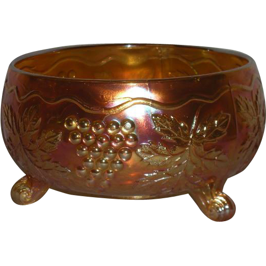 Fenton, Marigold, Grape & Cable, Carnival Glass Fernery Bowl