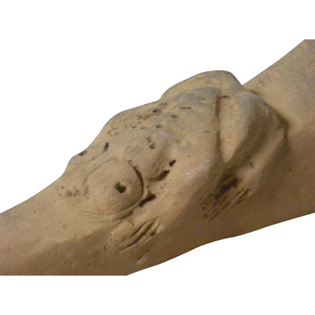 Native American, Frog Effigi, Red Clay Pipe