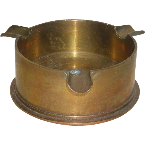 WWII, Military Artillery Shell, Trench Art Ash Tray