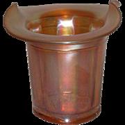 Dugan, Marigold Carnival Glass, Violet Basket