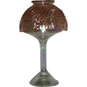 L.E. Smith, Diamond & Fan, Carnival Glass Candle Lamp