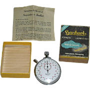 Han Hart, 1960, Olympia, 1 Jewel Stop Watch W/Original Box