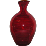 Red, Blenko Art Glass Bottle/Vase
