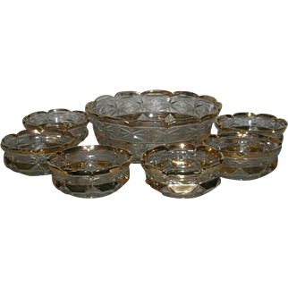 New Martinsville, Old Glory, Seven Piece Berry Bowl Set