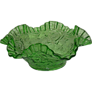 Scarce, Imperial, Open Rose, Uranium Glass Bowl