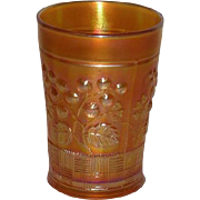 Northwood, Marigold, Raspberry, Carnival Glass Tumbler