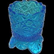 Sapphire Blue, Daisy & Button Toothpick Holder
