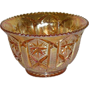 Imperial, Marigold, Star & File, Carnival Glass Nut Bowl